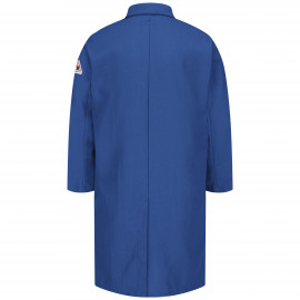 Bulwark Concealed Snap Front 6oz Nomex Lab Coat Royal Blue