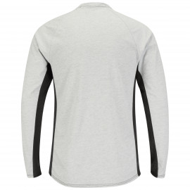 Bulwark 5.5oz Long Sleeve FR Two-tone Base Layer W/mesh Gusset