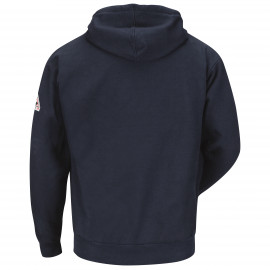 Bulwark Zip-front Hooded Sweatshirt Cotton/spandex Blend Navy
