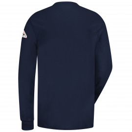 Bulwark 6.25 OZ Long Sleeve Interlock Henley Navy