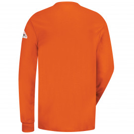Bulwark 6.25oz Long Sleeve Interlock Henley Orange