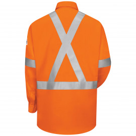Bulwark Uniform Shirt With  Reflective Trim Orange