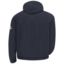 Bulwark Zip-front Hooded Fleece Sweatshirt Navy