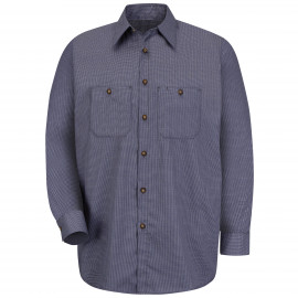 Red Kap Microcheck Workshirt Blue/Charcoal Check 3/Pack