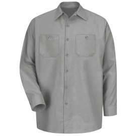 Red Kap Industrial Solid Work Shirt Long Sleeve Light Grey 6/Pack