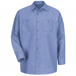 Red Kap Industrial Solid Work Shirt Long Sleeve Light Blue 6/Pack