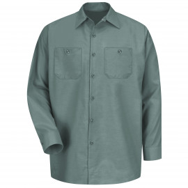 Red Kap Industrial Solid Work Shirt Long Sleeve Green 6/Pack