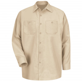 Red Kap Industrial Solid Work Shirt Long Sleeve Tan 6/Pack