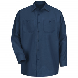 Red Kap Industrial Solid Work Shirt Long Sleeve Navy 6/Pack