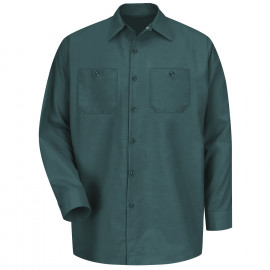 Red Kap Industrial Solid Work Shirt Long Sleeve Spruce Green 4/Pack