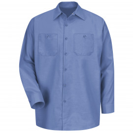 Red Kap Industrial Solid Work Shirt Long Sleeve Petrol Blue 6/Pack