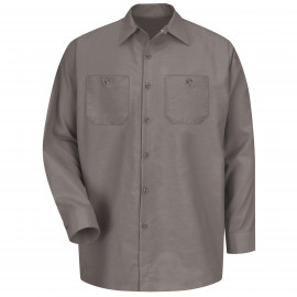 Red Kap Industrial Solid Work Shirt Long Sleeve Grey 4/Pack
