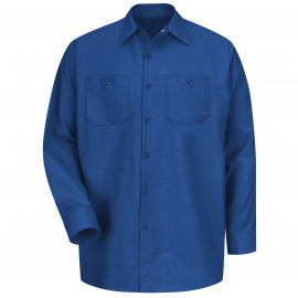 Red Kap Industrial Solid Work Shirt Long Sleeve Royal Blue 4/Pack