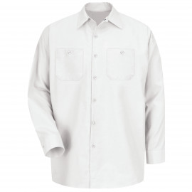 Red Kap Industrial Solid Work Shirt Long Sleeve White 6/Pack