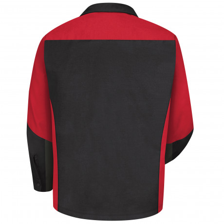 Red Kap Two-tone Crew Long Sleeve Shirt Black/Red3/pack