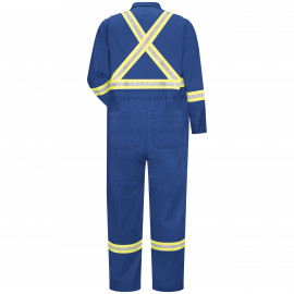 Bulwark Men Premium Coverall Reflective Trim Royal Blue Color