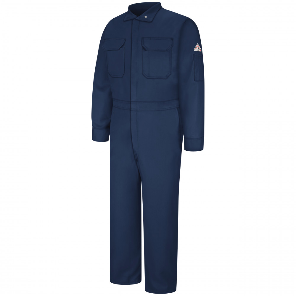 Bulwark Men Deluxe Coverall Nomex 6OZ Navy Color