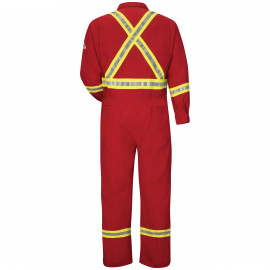 Bulwark Men Deluxe Coverall NMX 6 OZ W/TRIM Red Color