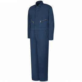 Red Kap Snap-Front Insulated Cotton Navy Color Coverall 2/Pack