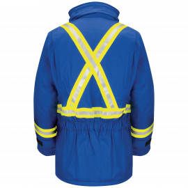 Bulwark Deluxe Parka With Cmftch Reflective Trim Royal Blue