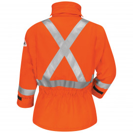 "Bulwark Deluxe Parka With Cmftchor W/2"" CSA Reflective Trim Orange"