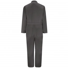 Red Kap Twill Action-Back Coverall Charcoal Color 2/Pack