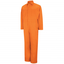 Red Kap Twill Action-Back Coverall Orange Color 2/Pack