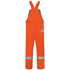 Bulwark Deluxe Insulated Bib Overall With Reflective Trim Orange Color