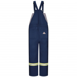 Bulwark Deluxe Insulated Bib Overall With Reflective Trim Navy Color