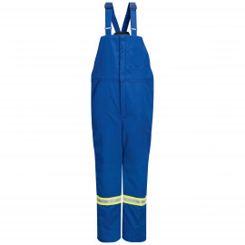 Bulwark Men Deluxe Insulated with Reflective Trim Bib Overall Royal Blue color
