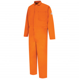 Bulwark Men Classic Coverall With Reflective Trim Orange Color
