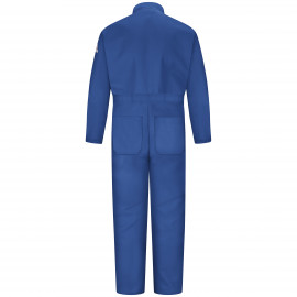 Bulwark Men Classic Coverall With Reflective Trim Royal Blue Color