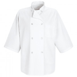 Chef Designs Half- Sleeve Chef Coat 2/Pack