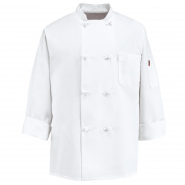 Chef Designs Eight Knot Button Chef Coat 12/Pack