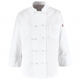 Chef Designs Ten Knot Button Chef Coat 2/Pack