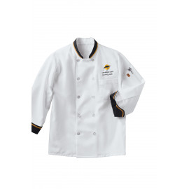 Chef Designs Ten Pearl Button Chef Coat 2/Pack