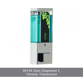 iQon One Chamber Dispenser Translucent Chrome 2/Pack