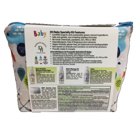 Deserving Health Baby & Kids Travel Kit A - Specialty 3/Pack (incl. Bath & Massage Oil, Body Lotion, SS Shampoo & Body Wash, Specialty Cream)