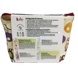 Deserving Health Baby & Kids Travel Kit B - Bath 3/Pack (incl. Gentle Body Wash, Bubble Bath, Mild Shampoo, Bath & Massage Oil)
