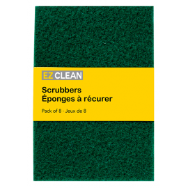 "Heavy Duty Green Scrubber Pad 6""x 8' size 8/Pack"