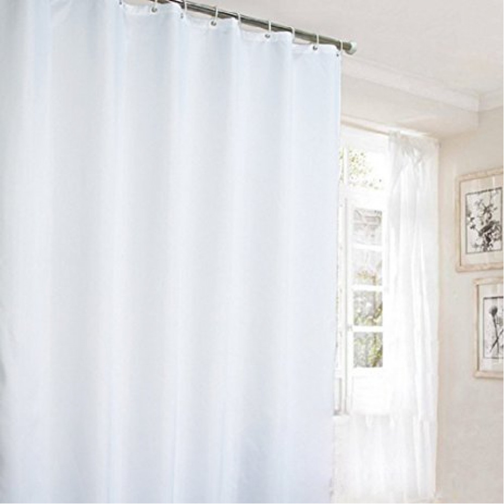 Stall Shower Curtains Water Resistant 100 Polyester W Buttonholes 39x 72