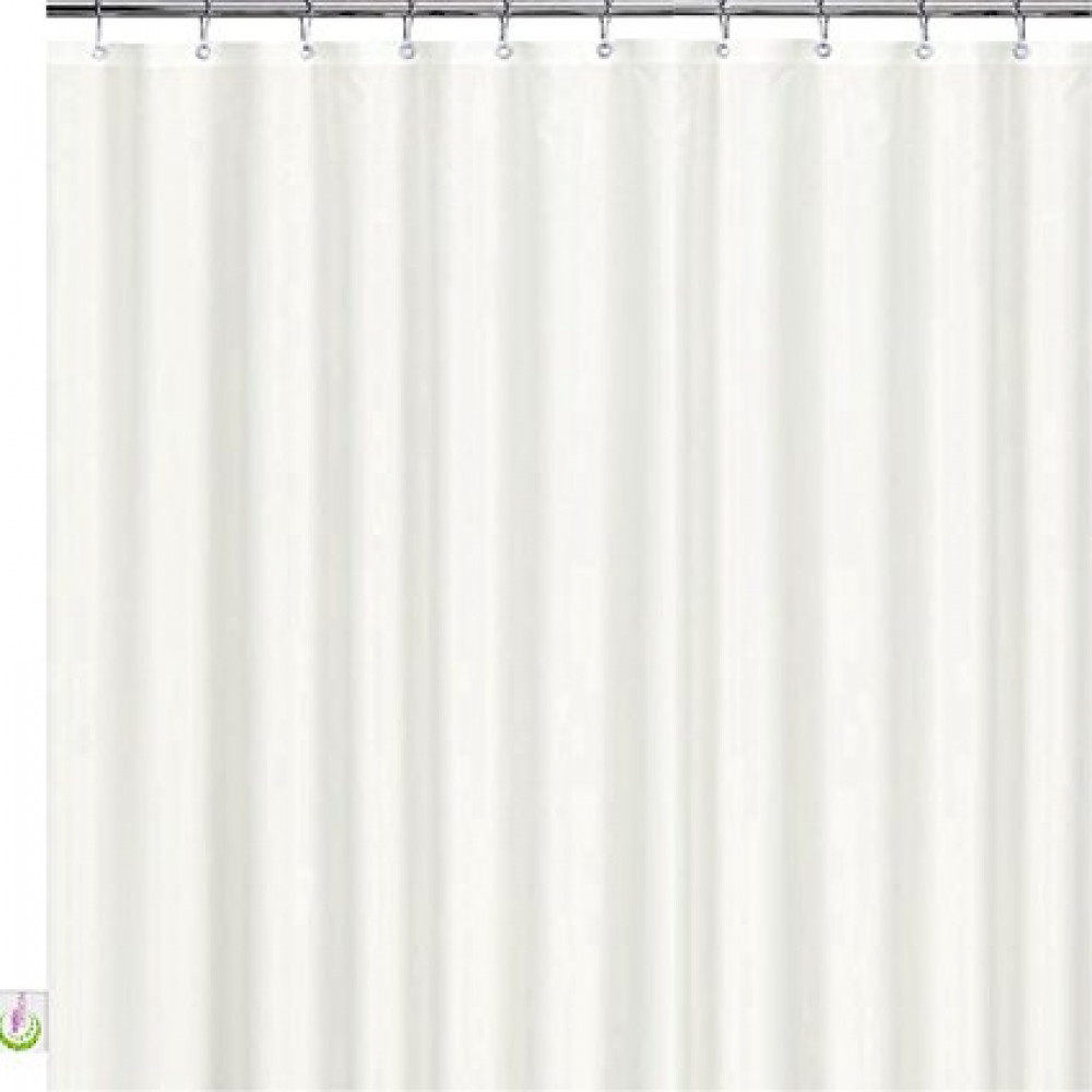 Stall Shower Curtain Water Resistant Nylon With Built In Hooks 48 X