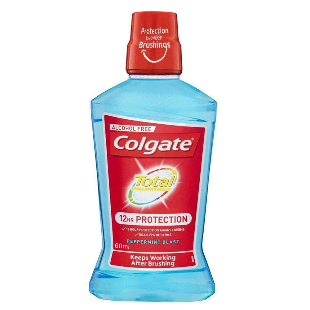 Colgate Total Mouthwash Peppermint Blast Trial size 60ml