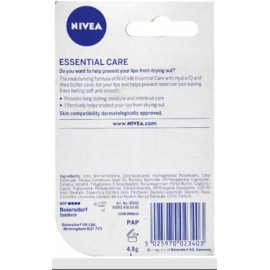 Nivea Lip Care Balm Essential 4.8 g 12/Pack