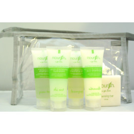 Nourish® Tube Toiletries Travel kit Made in Canada 4/Pack