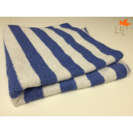 Pool Towels 100% Ringspun Cotton Cabana Towels 60x30 wt 13.00 lbs/dz. white Blue Stripes 3/Pack