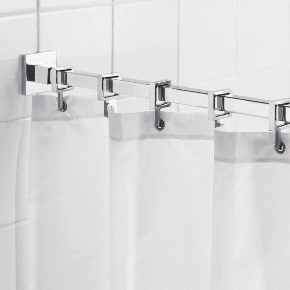 Stall Shower Curtains Water Resistant 100 Polyester W Buttonholes 39 X 72 White 2 Pack Hospitality Emporium