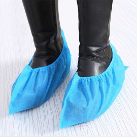 Shoe Covers Disposable Safe Dust proof Non-woven Fabrics for Hotel Hospital Home Blue 100-count
