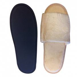 Open Toe Velour Hotel Spa Salon Slippers Unisex Size Woodland 10/Pack