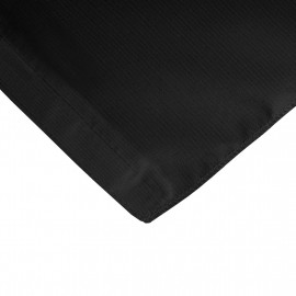 Fitted 4 ft. Rectangular Table cloth Black 2/Pack